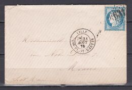D200 / LOT CERES N° 60 SUR LETTRE / VARIETE POINT MEDAILLON - 1871-1875 Cérès