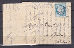 D200 / LOT CERES N° 60 SUR LETTRE / VARIETE FILET HAUT - 1871-1875 Cérès