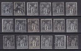 D201 / LOT SAGE N° 83 OBL - 1876-1898 Sage (Tipo II)