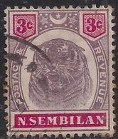 Negri Sembilan Malaya 1895 - 99 QV 3ct Purple & Carmine Used SG 7 ( E1428 ) - Negri Sembilan
