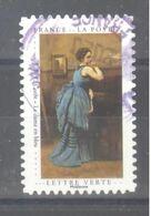 France Autoadhésif Oblitéré (Un Cabinet De Curiosités : La Dame En Bleu) (cachet Rond) - Usati