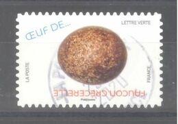France Autoadhésif Oblitéré (Oeuf De ... Faucon Crécerelle) (cachet Rond) - Usati