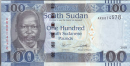 SOUTH SUDAN 100 POUNDS 2019 P-15 UNC - Zuid-Soedan