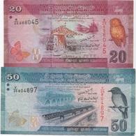 Sri Lanka : 20 Rupees 2010 + 50 Rupees 2010 - Sri Lanka
