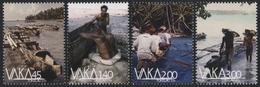 Tokelau 2014 - Mi-Nr. 449-452 ** - MNH - Auslegerkanus - Tokelau