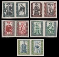 Polen 1959 - Mi-Nr. 1138-1147 B ** - MNH - Trachten / Costumes - Nuevos