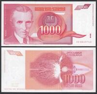 Jugoslawien - Yugoslavia 1000 Dinara 1992 Pick 114 UNC (1)    (26416 - Joegoslavië