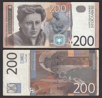 Jugoslawien - Yugoslavia 200 Dinara Banknote 2001 F/VF (3/4) Pick 157  (26403 - Joegoslavië