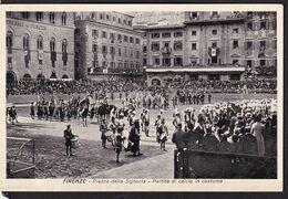 C. Postale - Italia - Firenze - Piazza Della Signora - Partida Di Calcio In Costume - Circa 1950 - Non Circulee - A1RR2 - Firenze (Florence)