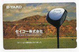 TELECARTE JAPON CLUB De GOLF S-YARD - Sport