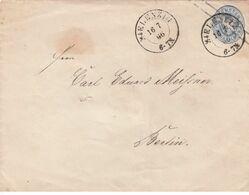 Preußen Mi. GA U 27 Ab Mit DK Blenzin 16.7.1866 Nach Berlin - Preussen (Prussia)