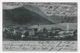 (RECTO / VERSO) GMUNDEN VOM CALVARIENBERG EN 1902 - N° 2078 - BEAU TIMBRE ET CACHET - CPA PRECURSEUR VOYAGEE - Gmunden