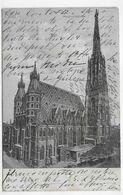 (RECTO / VERSO) WIEN EN 1905 - STEPHANSKIRCHEN - BEAU TIMBRE ET CACHET - CPA VOYAGEE - Stephansplatz