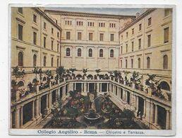 (RECTO / VERSO) ROMA EN 1914 - COLLEGIO ANGELICO - CHIOSTRO E TERRAZZA - BEAU TIMBRE ET CACHET - CPA VOYAGEE - Education, Schools And Universities