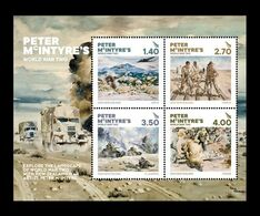 New Zealand 2020 Mih. 3821/24 (Bl.454) World War II In Paintings Of Peter McIntyre MNH ** - Ongebruikt