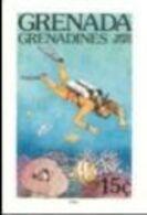 GRENADA GRENADINES 1985 Water Sports Scuba Diving 15c IMPERF. - Tauchen