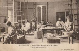 04  MOUSTIERS  Sainte Marie, Faiencerie  Marcel Provence,  Atelier De Décoration. - Otros Municipios