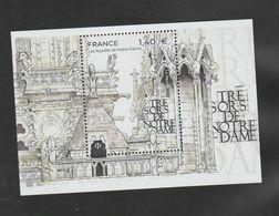 """FRANCE / 2020 / Y&T N° 5416 En Feuillet ? ** : """"Trésors De Notre-Dame"""" (Façades) X 1 - Mint/Hinged"""