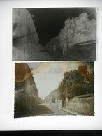 MAROLLES EN HUREPOIX LA GRANDE RUE  NEGATIF PLAQUE DE VERRE +  PHOTO  Format 9. / 14. Cms - Plaques De Verre