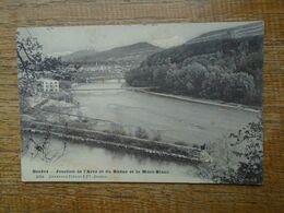 Carte Assez Rare De 1906 , Suisse , Genève , Jonction De L'arve Et Du Rhône Et Le Mont-blanc - GE Genève