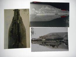MAREUIL SUR AY CANAL DE LA MARNE NEGATIF PLAQUE DE VERRE +  PHOTO +CPSM Format 9. / 14. Cms - Glass Slides