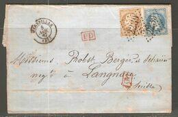Lettre De 1867 ( France ) - 1863-1870 Napoleone III Con Gli Allori