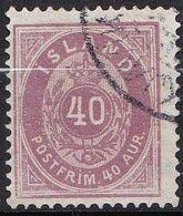 IS001Bis – ISLANDE – ICELAND – 1876 – NUMERAL VALUE IN AUR - PERF. 14X13,5 - SG # 23b USED 48 € - Oblitérés