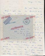Fixe Lettre * Aviso Savorgnan De Brazza Marine Nationale Service à La Mer Poste Navale Indochine Saïgon 14 Mars 1949 - Marcofilia (sobres)