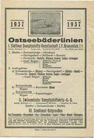 Deutschland - Ostseebäderlinien 1937 - I. Stettiner Dampfschiffs-Gesellschaft J. F. Braunlich GmbH - II. Swinemünder Dam - Europa