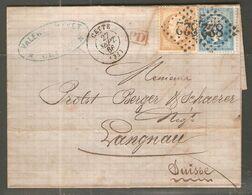 Lettre De 1866 ( France ) - 1862 Napoleon III