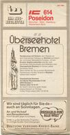Deutschland - Izb Ihr Zug-Begleiter - ICE 614 Poseidon - München Köln Hamburg Westerland (Sylt) - Faltblatt 1982 - Europa