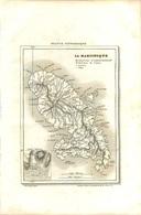 280820 - GRAVURE - 1835 - FRANCE PITTORESQUE Carte Géographique MARTINIQUE Par MONIN FORT ROYAL COLONIE ESCLAVAGISME - Other