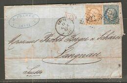 Lettre De 1867 ( France ) - 1862 Napoleon III