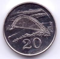 ZIMBABWE 2002: 20 Cents, KM 4a - Zimbabwe