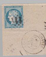 GC 1119 Contes ( Dept 87 ) + T 17 Contes 21 Avril 73 S / N° 60A - 1849-1876: Periodo Classico
