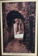 Cpa De 1938, Moulinet - Une Vieille Rue - Alpes Maritimes 06, écrite, Timbre, Cachet, éd Carenco - Altri Comuni