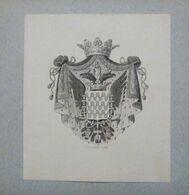 Ex-libris Héraldique Illustré XIXème - ITALIE - ARCHINTO (Milan) - Bookplates