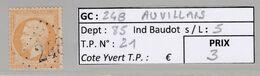 GC 248 Auvillars ( Dept 85 )  S / N° 21 - 1849-1876: Classic Period
