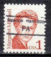 USA Precancel Vorausentwertung Preo, Locals Pennsylvania, Newton Hamilton 847.5 - Prematasellado