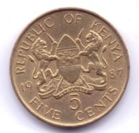 KENYA 1987: 5 Cents, KM 17 - Kenya