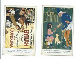 Byrrh Cpa Pk Carte Reclame Kaarten Concours D'affiches 2 Ex. - Advertising