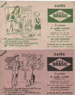 2 Buvards Publicitaires Anciens/Café//Café COSTA BRASIL/La Marque De Qualité Constante/Paris 18éme/Vers 1950-60   BUV492 - Caffè & Tè