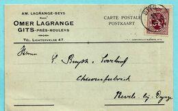 N°284 Op Postkaart, Afst. GITS 11/06/1931 - 1929-1937 Heraldieke Leeuw