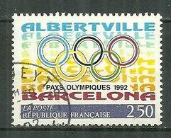 FRANCE Oblitéré 2760 Anneaux Olympiques Jeux Olympiques Albertville Barcelone 1992 - France