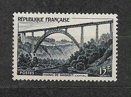France Neuf**  Numéro Yvert & Tellier:928 - 15 F - Viaduc De Garabit  2 Scan Lot FR405 - Neufs