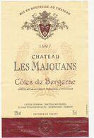 Etiquette Vin / Bergerac / CHATEAU LES MAJOUANS / 1997 - Bergerac
