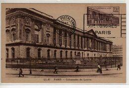 Carte Maximum Avec N°780 Colonnade Du Louvre Avec Flamme Congrés Postal Universel 6/5/47  Cote Yvert : E3  140E - 1940-49
