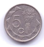NAMIBIA 2009: 5 Cents, KM 1 - Namibia