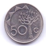 NAMIBIA 1993: 50 Cents, KM 3 - Namibië