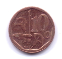 SOUTH AFRICA 2019: 10 Cents - Sud Africa